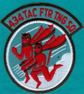 USAF U s Air Force 434th Tactical Fighter Training Squadron Patch