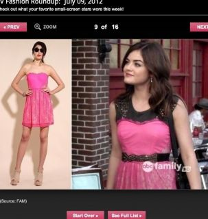 Sexy Lucy Hales Pink Lace Dress on Pretty Little Liars