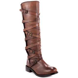 Luichiny This Time Dark Tan Antique Knee High Leather Boots