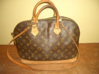 Authentic Louis Vuitton Monogram Leather Shoulder Bag Handbag RARE