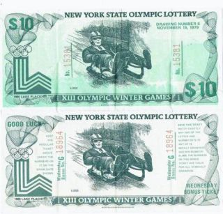 NY State XIII Olympic Winter Games Lottery Luge