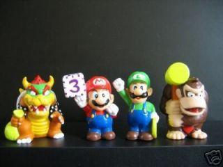 Wii Nintendo Mario Bros Luigi Yoshi Bowser Figure Toy