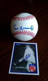 AAGPBL Auto Baseball and Card Lou Arnold Autograph Womens Ladies