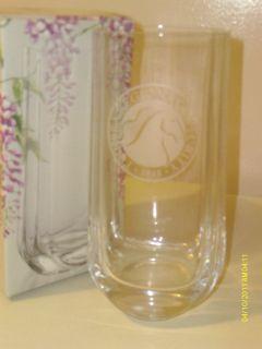Glicine Crystal Vase Luigi Bormioli Clear Glass Italy Etch Horse Head