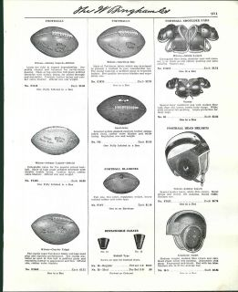 1950 Ad Wilson Johnny Lujack Scarlet Leather Football Helmet Charley
