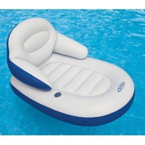 Intex Comfy Water Lounge Swimming Pool Float Inflatable Floating Chair