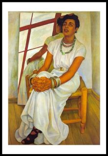 Art Poster Diego Rivera Portrait of Lupe Marín