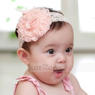 Lovely Cute Children Baby Girls Toddler Lace Hair Accessories Flowers