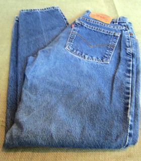 Pre Own Levi Strauss 550 Relaxed Fit Tapered Leg Size 8 Misses Jeans