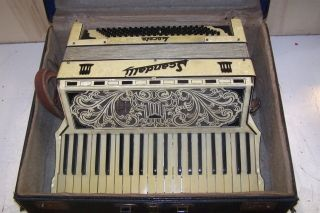 Fancy Vintage Scandalli Accordion w Case