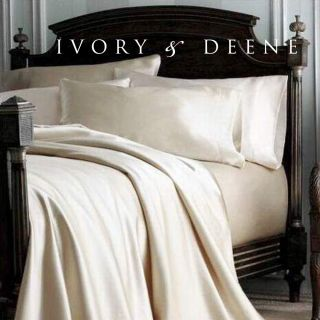 Satin Queen Size Bed Sheet Set New Luxury Hotel Bedding Linen
