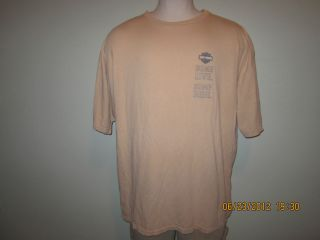 HARLEY DAVIDSON T Shirt Sz XXXL Tan Short Sleeved T Shirt LYNNWOOD WA