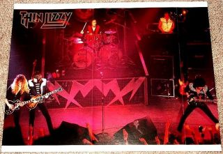 Thin Lizzy Phil Lynott John Sykes Live on Stage Poster Import