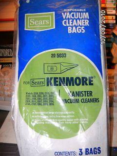 Kenmore Canister Vacuum Cleaner Bags NIP