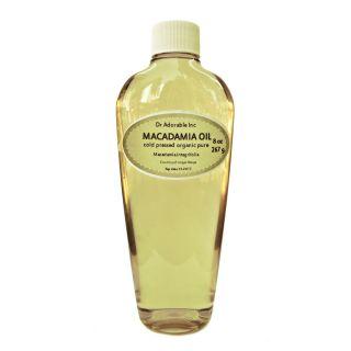 oz Macadamia Nut Oil Organic Pure Cold Pressed