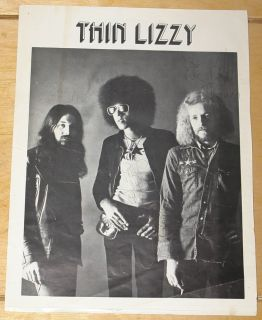 RARE Fully Hand Signed UK Tour Programme Page 1972 Phil Lynott