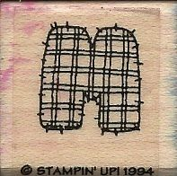 Stampin Up Wood Mounted Rubber Stamp Letter M