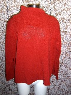 Womens Dark Red Margaret OLeary Sweater M