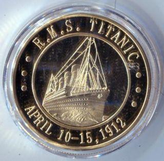 Titanic 1912 24K Gold Silver Commemorative Coin