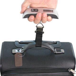 110lb Digital Travel Luggage Scale Temperature Display