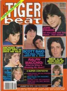 MAGAZINE SEPT 1982 RALPH MACCHIO JOHN STAMOS RICK SPRINGFIELD MINT