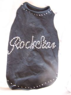 Rock Star Silver Glitter Doggie Vest Jacket Cotton Poly Large S4201