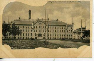 Macon Missouri Fort Blees Military Academy Gymnasium Antique Vintage