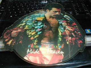 Queen Freddie Mercury Made in Heaven RARE Shaped Picture Disc 1985