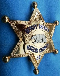 Madera Co CA Deputy Sheriff 1930s Badge