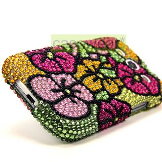 Luxmo Flower Full Diamond Bling Hard Case Cover for Samsung Galaxy S3