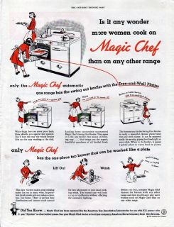 1949 Magic Chef Gas Range Ad Is It Any Wonder More Women Cook