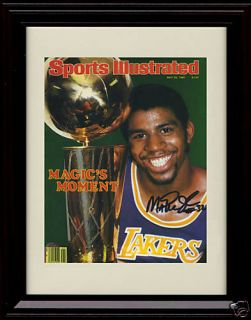 Magic Johnson Sports Illustrated Autograph Print Lakers