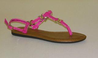 Stuart Madeline Fuchsia T Strap Womens Sandals