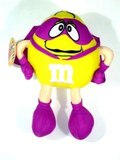 New 11 Yellow Superhero M M Plush Toy Sugar Loaf Plush Halloween