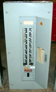 General Electric 100 Amp Max Main Breaker Panel 42 Circ
