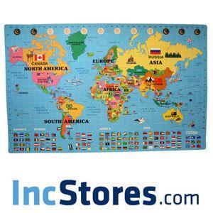 26 sqft 5 8 World Map Puzzle Kids Play Mat Foam Nursery Learning