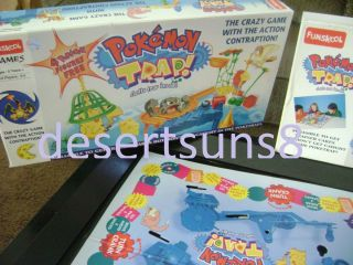 Prototype POKEMON Board Game by FUNSKOOL in 2004 POKEMON TRAP! like