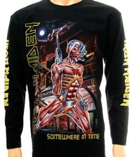 Iron Maiden Rock T Shirt Long Sleeve L S Sz M CA Heavy Metal Punk The