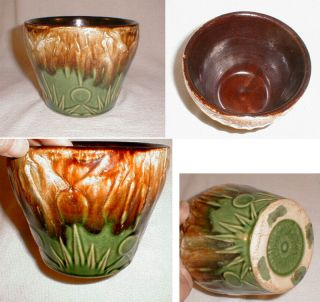 Antique Exc Cond Small Scarce Size McCoy Art Pottery Jardiniere