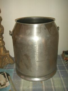 Vintage 5 Gallon Stainless Steel Milk Cream Dairy Can McCormick