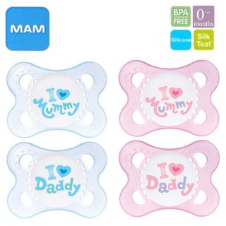 Newborn Baby Dummies Soothers Pacifiers MAM 0 Mths
