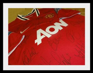 Manchester United Hand Signed team Shirt x21 New 2011 12 Jersey COA