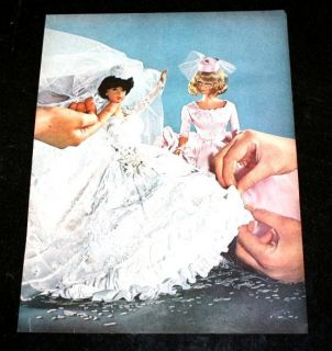 VINAGE BARBIE MAGAZINE AD PAGE Wedding Bubble Cu Midge Doll Life