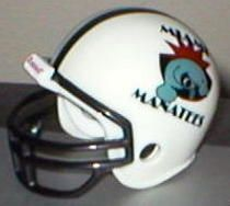 1995 CFL Miami Manatees Proposed Prototype Trad Pocket Pro Helmet