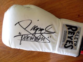 Manny Pacquiao Signed Cleto Reyes Quality Glove Team Pacquiao COA