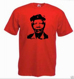 Nelson Mandela in Che Guevara Style T Shirt All Sizes