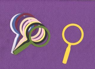 Magnifying Glass Large Die Cuts