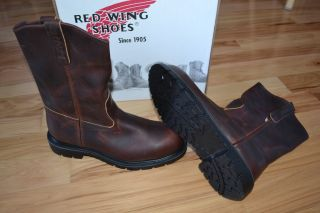 New 2256 Steel Toe Red Wing Pull on Soft Pecos Leather Brown Boots EH