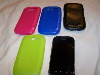 HTC myTouch 4G Black T Mobile Good Condition with 4 Cases