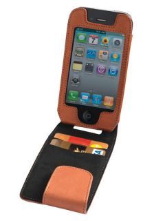 Trexta Maia Leather Flip Case Pouch iPhone 4 Camel Tan